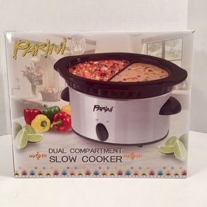 New Parini Dual Compartment Slow Cooker